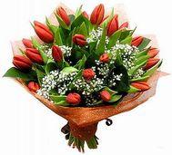 Образец №3 тюльпаны с гипсофилой