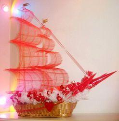 Сделать корабль из цветов 120